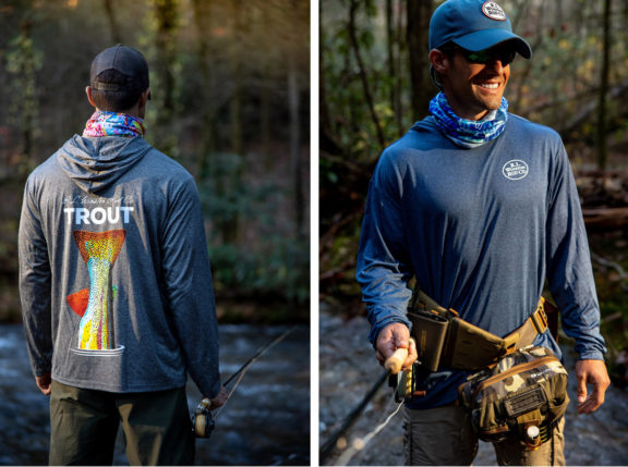 Introducing the New TROUT TECH Hooded Sun Shirts!